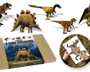 5 Card Dinosaurs A